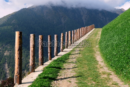 mountain trail in val senales