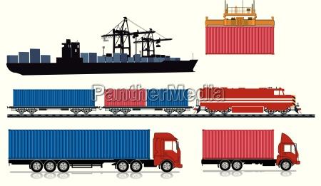 promocion navegacion barco de contenedores puerto