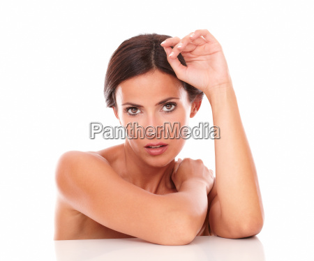 pretty latin woman showing her sensuality