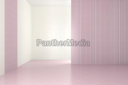 empty modern bathroom with purple tiles