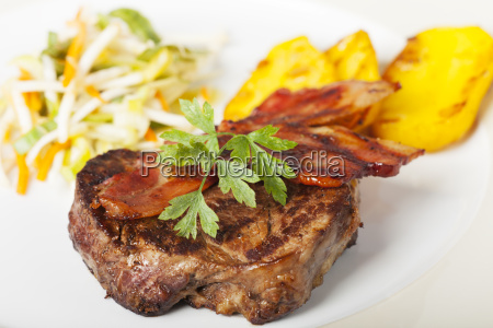 grilled steak of beef