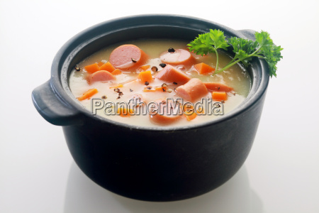 appetizing main course soup dish on