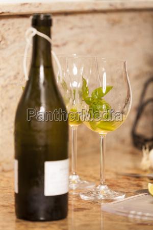 champagne bottle wine bottle with wine