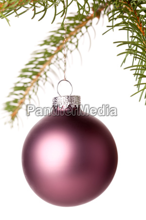 traditional christmas ball hanging on a