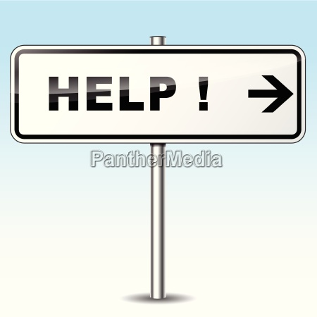 help directional sign