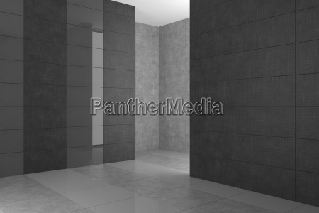 interior negro pared vacio azulejos monticulo