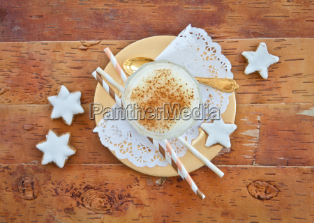 egg punch with cinnamon
