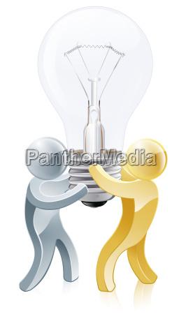 light bulb people