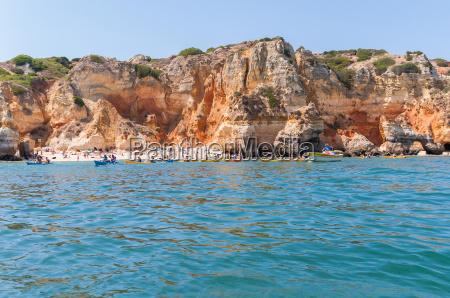 beach among the rocks in lagos