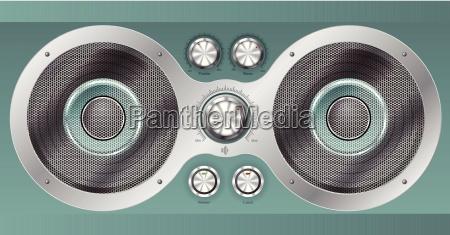 speaker set and main controls