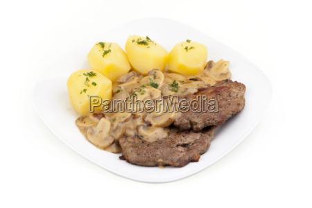 steak with mushrooms steak with