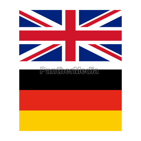 flag of united kingdom and germany