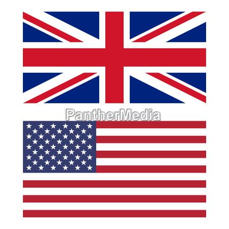 bandera de reino unido y estados
