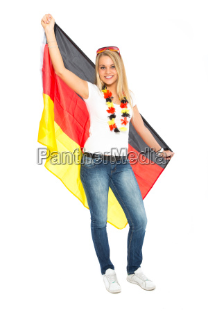 woman with germany flag