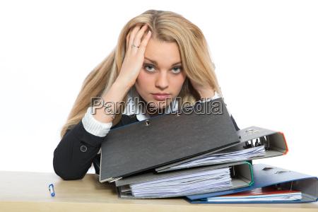 woman has burnout syndrome