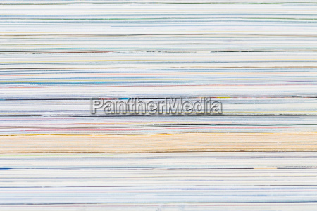 close ups of stack of colorful