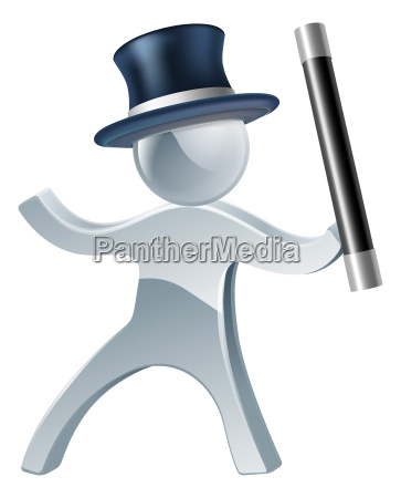 magician mascot man