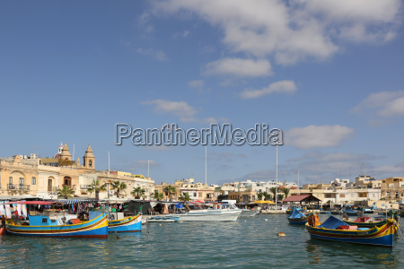 port of marsaxlokk on the island