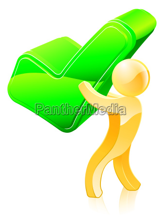 green tick person