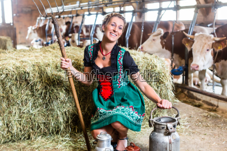 sexy farmer in the cowshed