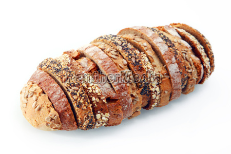 delicious german bread slices with seeds