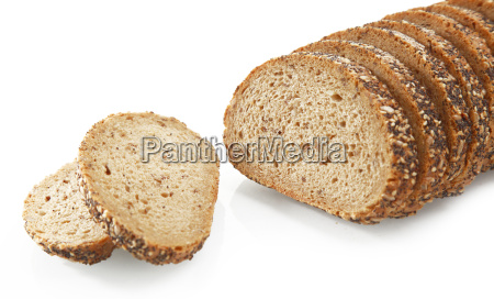 tasty sliced bread with sesame seeds