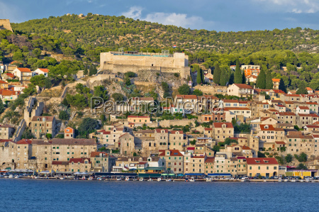 town of sibenik historic waterfront