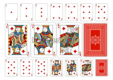 poker size diamond playing cards plus