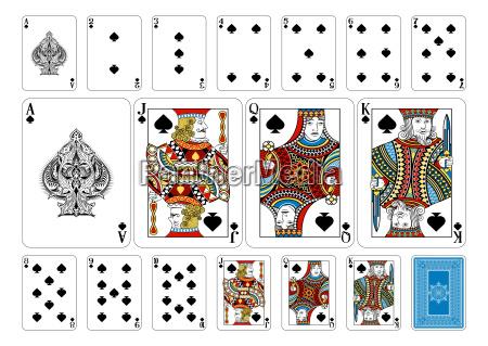poker size spade playing cards plus