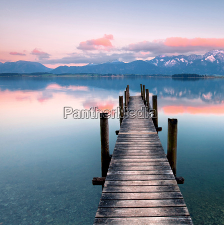 silence at the lake in the