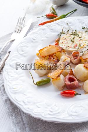 jerusalem artichoke au gratin with ham