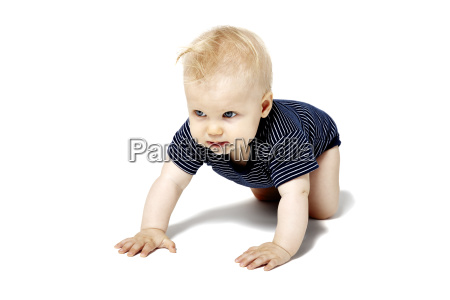 baby crawling on knees