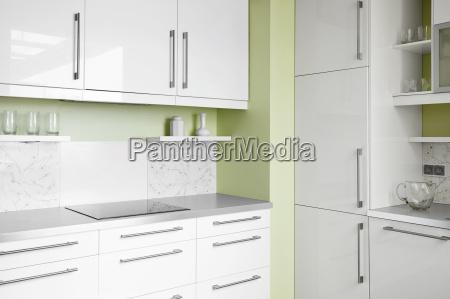 kitchen cuisine simplicity contemporary white home