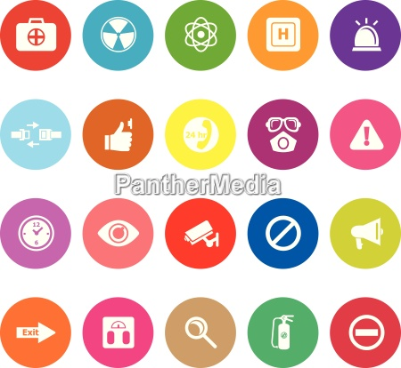 general healthcare flat icons on white