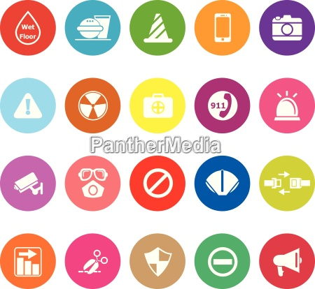 general useful flat icons on white