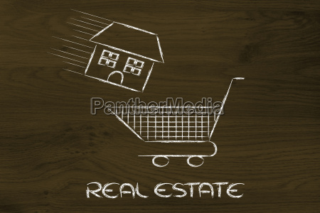 real estate market house into
