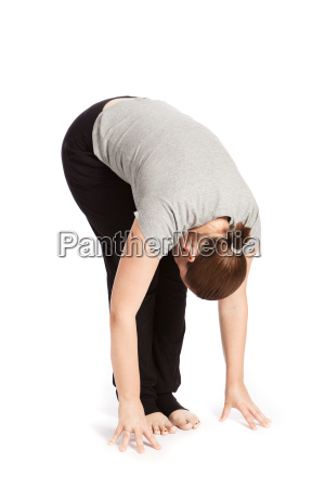 solo pose of sun salutation in