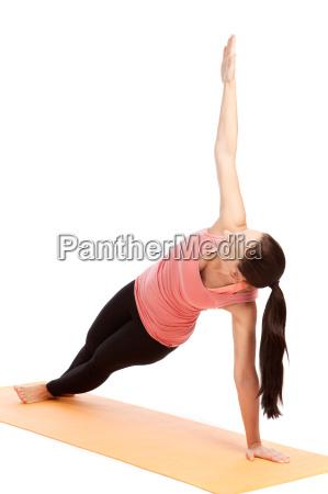 yoga exercise on the mat vasishtasana