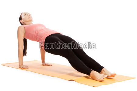 yoga exercise on the mat urdhva