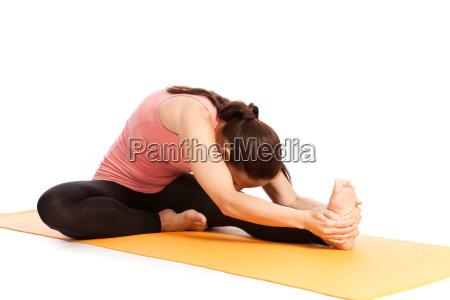 yoga exercise on the mat janu