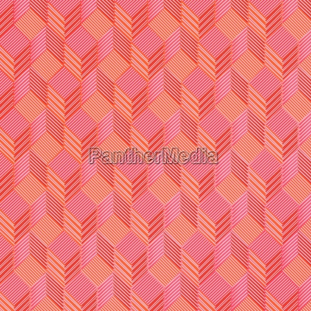 red cubes on fabric pattern
