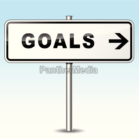 goals directional sign
