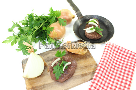 ostrich steaks with parsley