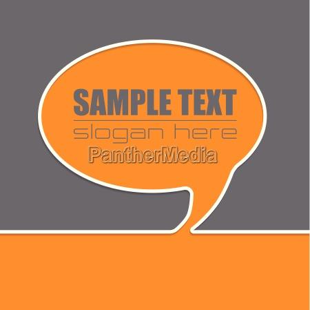 speech bubble advertising background design