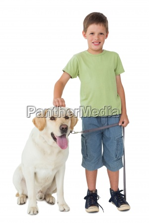 cute little boy standing with his