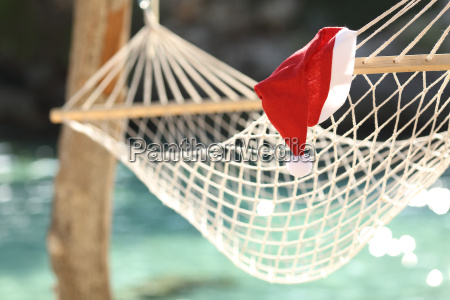 hammock in a tropical beach on