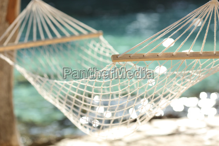 hammock on a tropical beach resort