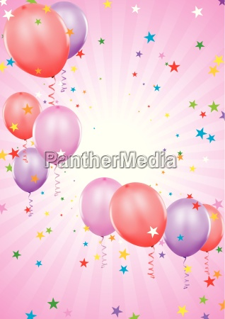 party balloons holiday background illustration