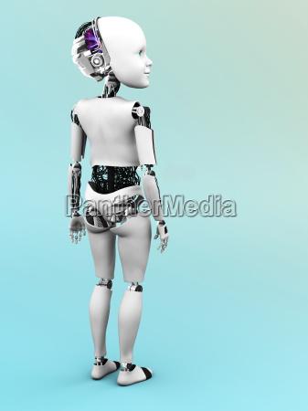 robot child standing nr 2