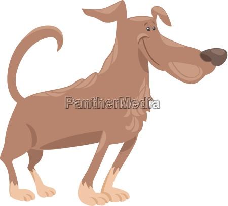 funny dog cartoon illustration
